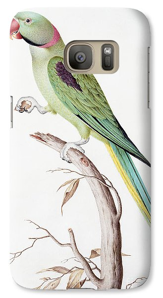Alexandrine Parakeet Galaxy Case by Nicolas Robert