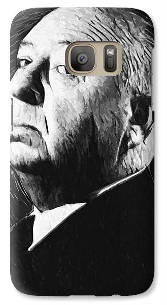 Alfred Hitchcock Galaxy Case by Taylan Apukovska