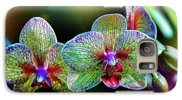 Alien Orchids Galaxy Case by Bill Tiepelman