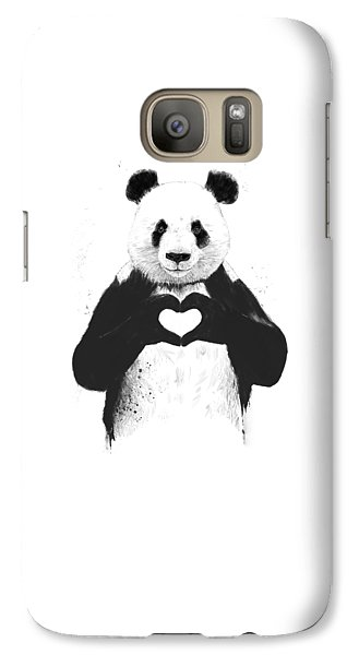 All You Need Is Love Galaxy Case by Balazs Solti