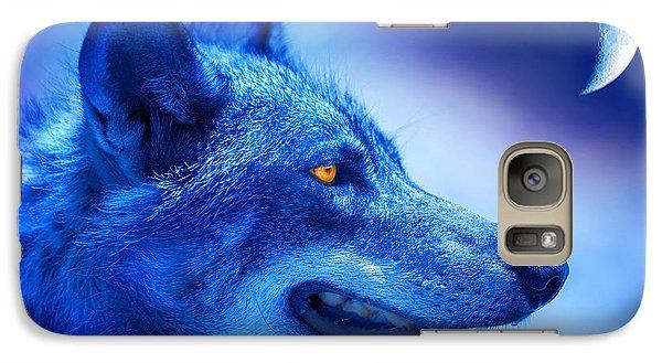Alpha Wolf Galaxy S7 Case by Mal Bray