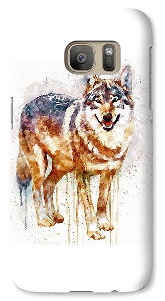 Alpha Wolf Galaxy S7 Case by Marian Voicu
