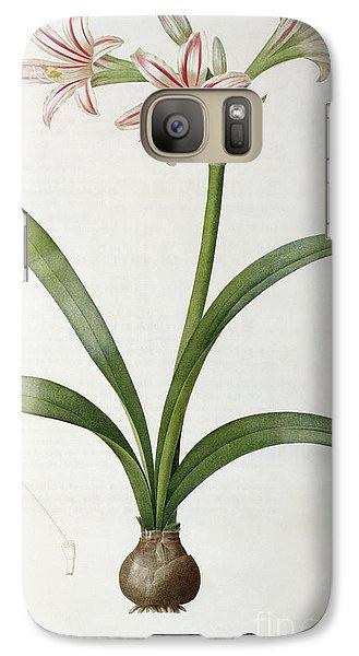 Amaryllis Vittata Galaxy S7 Case by Pierre Redoute