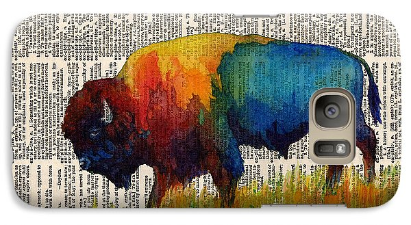 American Buffalo IIi On Vintage Dictionary Galaxy Case by Hailey E Herrera