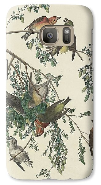 American Crossbill Galaxy S7 Case by John James Audubon