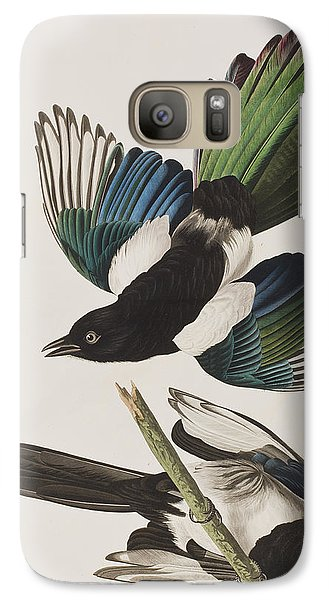 American Magpie Galaxy S7 Case by John James Audubon