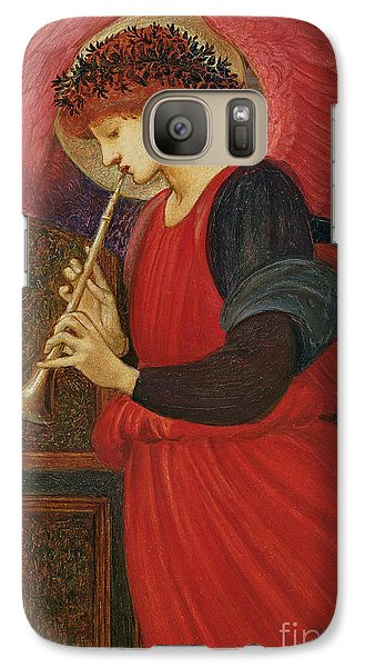 An Angel Playing A Flageolet Galaxy S7 Case by Sir Edward Burne-Jones