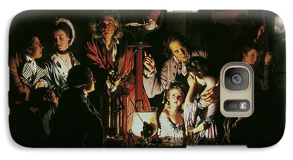 An Experiment On A Bird In The Air Pump Galaxy Case by Joseph Wright of Derby