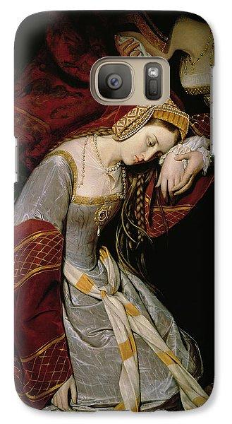 Anne Boleyn In The Tower Galaxy Case by Edouard Cibot