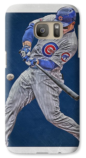 Anthony Rizzo Chicago Cubs Art 1 Galaxy S7 Case by Joe Hamilton