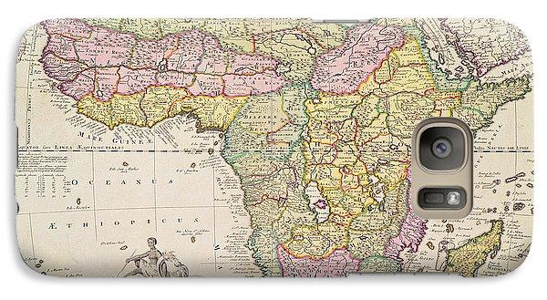 Antique Map Of Africa Galaxy S7 Case by Pieter Schenk