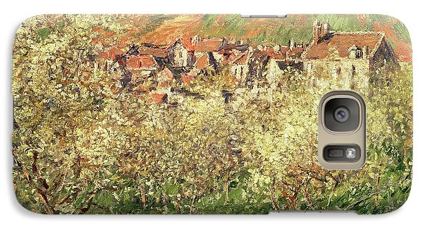 Apple Trees In Blossom Galaxy Case by Claude Monet