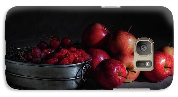 Apples And Berries Panoramic Galaxy Case by Tom Mc Nemar