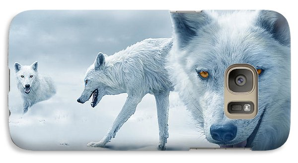 Arctic Wolves Galaxy S7 Case by Mal Bray
