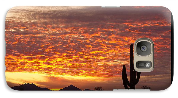 Arizona November Sunrise With Saguaro   Galaxy S7 Case by James BO  Insogna