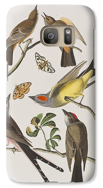 Arkansaw Flycatcher Swallow-tailed Flycatcher Says Flycatcher Galaxy S7 Case by John James Audubon