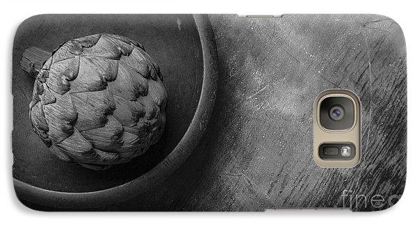 Artichoke Black And White Still Life Three Galaxy Case by Edward Fielding