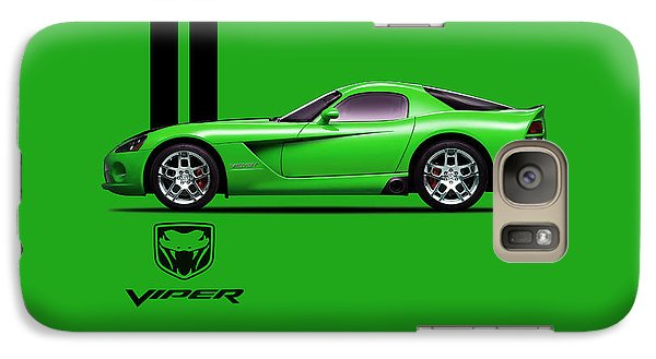Dodge Viper Snake Green Galaxy S7 Case by Mark Rogan