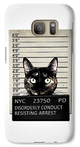 Kitty Mugshot Galaxy S7 Case by Nicklas Gustafsson