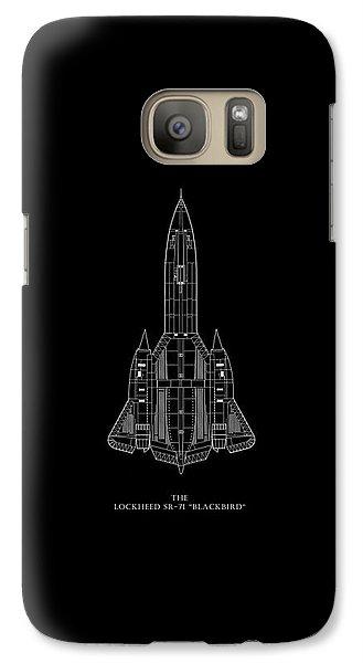 The Lockheed Sr-71 Blackbird Galaxy S7 Case by Mark Rogan