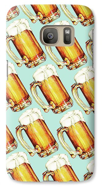 Beer Pattern Galaxy Case by Kelly Gilleran