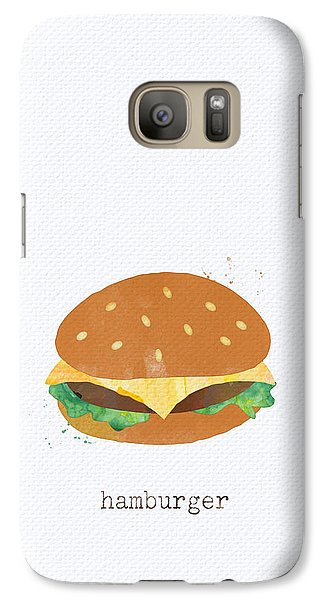 Hamburger Galaxy S7 Case by Linda Woods