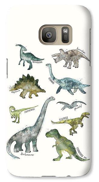 Dinosaurs Galaxy Case by Amy Hamilton