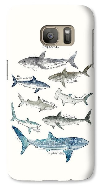 Sharks Galaxy Case by Amy Hamilton