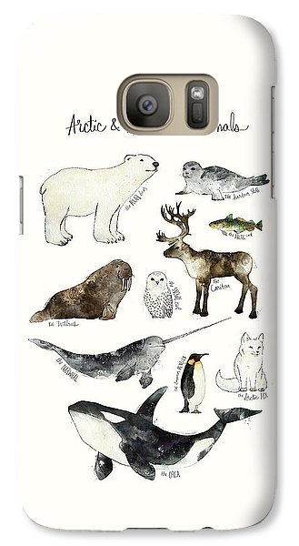 Arctic And Antarctic Animals Galaxy Case by Amy Hamilton