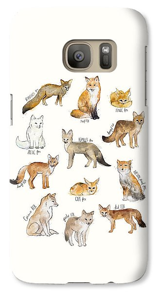 Foxes Galaxy Case by Amy Hamilton