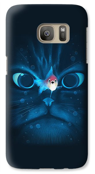 Cat Fish Galaxy S7 Case by Nicholas Ely