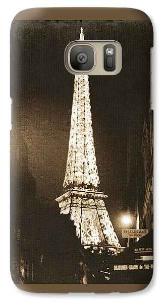 Postcard From Paris- Art By Linda Woods Galaxy S7 Case by Linda Woods