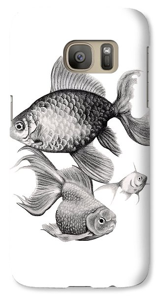Goldfish Galaxy S7 Case by Sarah Batalka