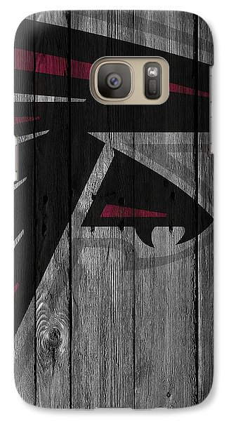 Atlanta Falcons Wood Fence Galaxy Case by Joe Hamilton