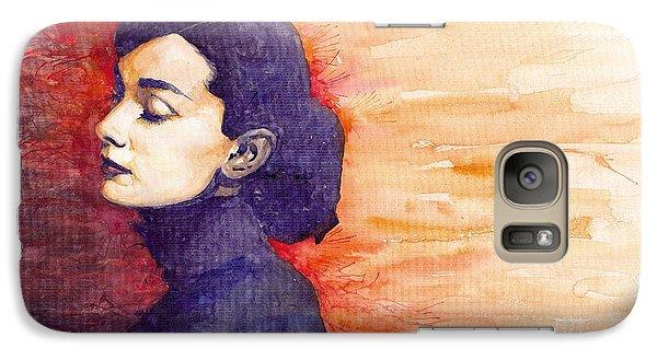 Audrey Hepburn 1 Galaxy Case by Yuriy  Shevchuk