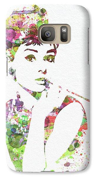 Audrey Hepburn 2 Galaxy S7 Case by Naxart Studio