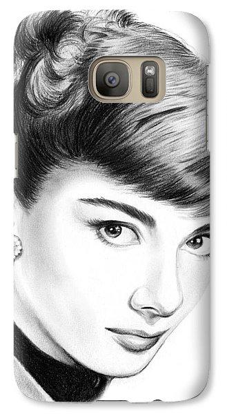 Audrey Hepburn Galaxy Case by Greg Joens