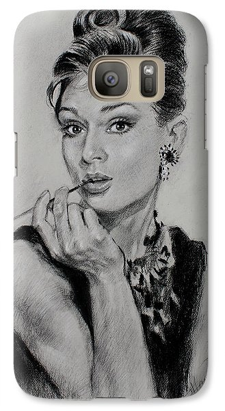 Audrey Hepburn Galaxy S7 Case by Ylli Haruni