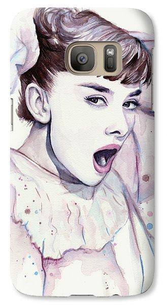 Audrey - Purple Scream Galaxy S7 Case by Olga Shvartsur