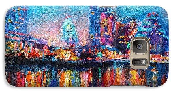 Austin Art Impressionistic Skyline Painting #2 Galaxy S7 Case by Svetlana Novikova
