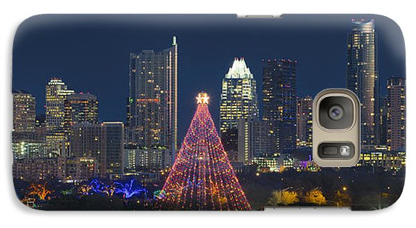 Austin Panorama Of The Trail Of Lights And Skyline Galaxy Case by Rob Greebon