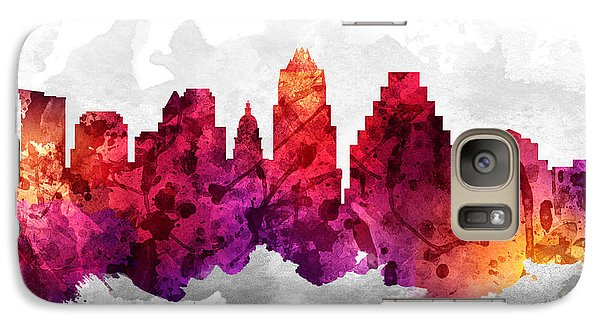 Austin Texas Cityscape 14 Galaxy Case by Aged Pixel