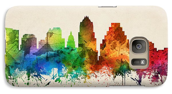 Austin Texas Skyline 05 Galaxy S7 Case by Aged Pixel