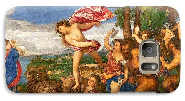 Bacchus And Ariadne Galaxy Case by Titian