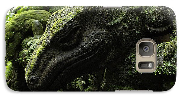 Bali Indonesia Lizard Sculpture Galaxy Case by Bob Christopher