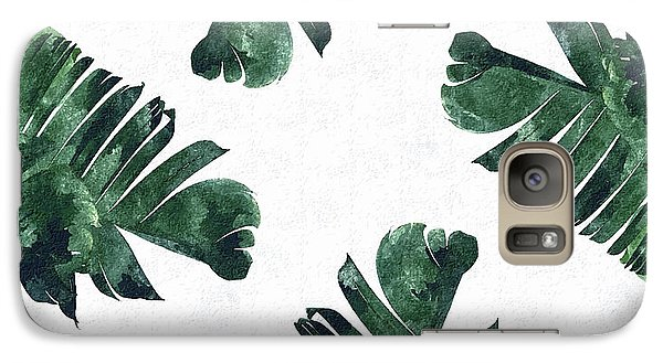 Banan Leaf Watercolor Galaxy S7 Case by Uma Gokhale