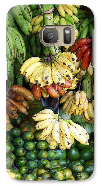 Banana Display. Galaxy S7 Case by Jane Rix