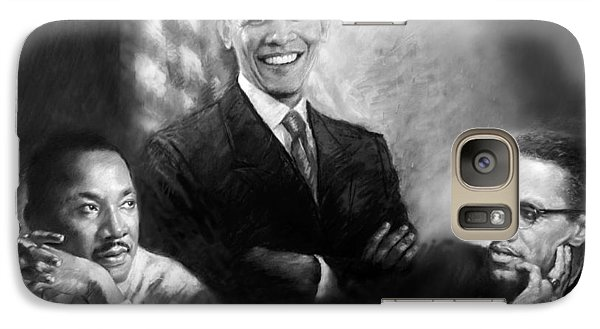 Barack Obama Martin Luther King Jr And Malcolm X Galaxy Case by Ylli Haruni
