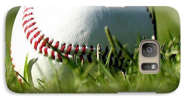 Baseball In Grass Galaxy Case by Chris Brannen