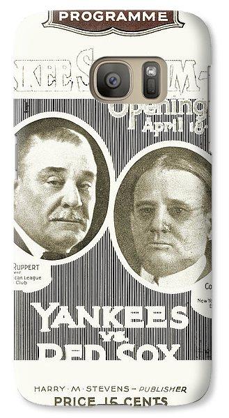Baseball Program, 1923 Galaxy S7 Case by Granger